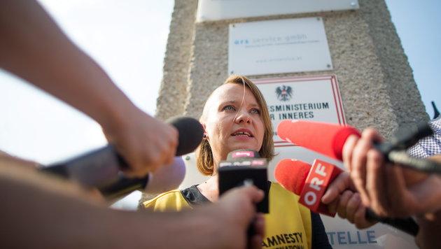Amnesty International überprüfte Traiskirchen (Bild: APA/EPA/GEORG HOCHMUTH)