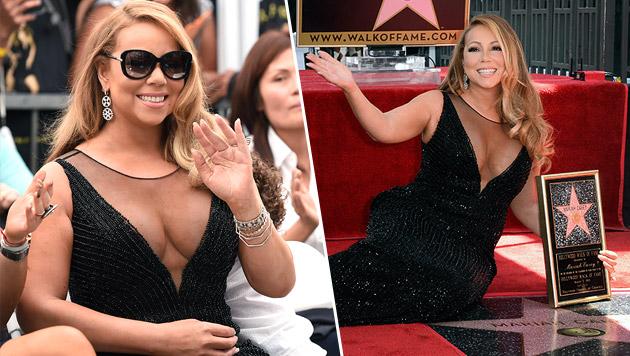 """Auch Mariah Carey thront jetzt am """"Walk of Fame"""" (Bild: APA/EPA/Paul Buck)"""