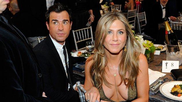 Jennifer Aniston gab Justin Theroux das Jawort (Bild: GETTY IMAGES NORTH AMERICA / AFP)