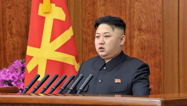 """Nordkorea werde einen """"wahllosen Atomschlag"""" gegen seine Feinde f�hren: Diktator Kim Jong Un (Bild: KCNA/EPA/picturedesk.com)"""