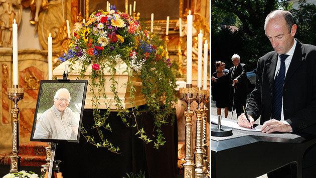 """Abschied von einem Journalisten aus Leidenschaft: Auch """"Krone""""-Herausgeber Dr. Dichand kondolierte. (Bild: Reinhard Holl)"""