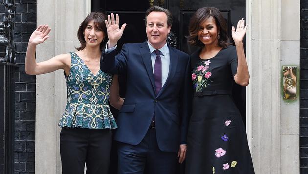 """Britische """"First Lady"""" ist """"Best Dressed Woman"""" (Bild: APA/EPA/ANDY RAIN)"""