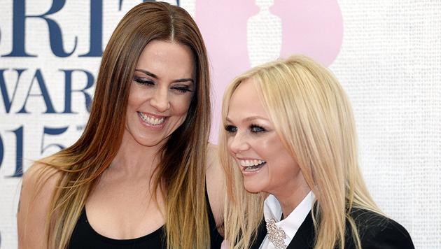 Melanie Chisholm (li.) und Emma Bunton bei den Brit Awards 2015 (Bild: EPA)