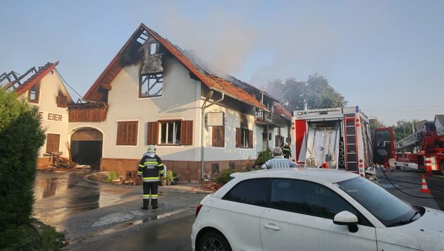 Schock nach Feuerdrama: Opa und zwei Enkel tot (Bild: Sepp Pail)