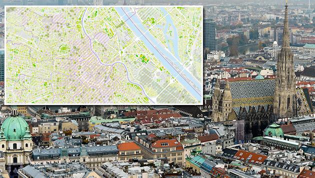 Wien: So könnten Dächer als Klimaanlage dienen (Bild: APA/HERBERT NEUBAUER, wien.gv.at)