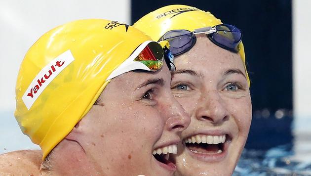 """Schwimm-WM: Australischer """"Sister Act"""" in Kasan (Bild: APA/EPA/PATRICK B. KRAEMER)"""
