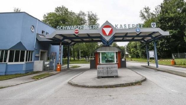 Die Schwarzenbergkaserne: Hier baut der Bund ab heute eine weitere Zeltstadt für 250 Flüchtlinge. (Bild: Markus Tschepp)