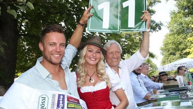 """Die Jury: """"Mister Salzburg"""" Daniel Chytra aus Saalfelden, Miriam Höller und Gerhard Gössl (v.li.). (Bild: Franz Neumayr)"""