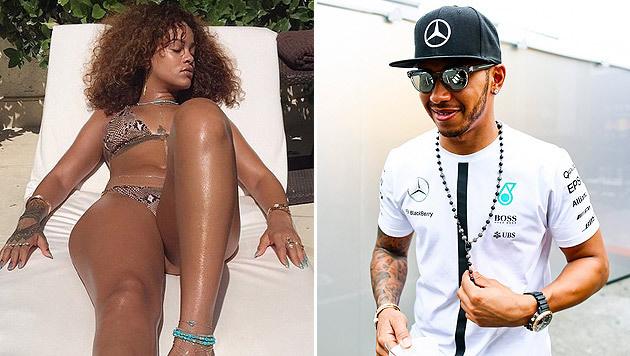 Rihanna macht Urlaub mit Lewis Hamilton (Bild: instagram.com/badgalriri, APA/EPA/SRDJAN SUKI)