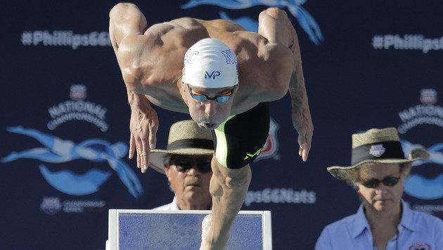 """""""Skandalboy"""" Phelps schneller als Weltmeiser (Bild: AP)"""