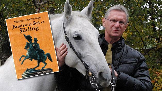 """Autor Poscharnigg: """"Wie es sich für einen guten Österreicher gehört, reite ich einen Lipizzaner."""" (Bild: Werner Poscharnigg)"""