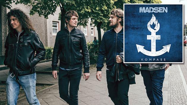 """Madsen und ihr """"Kompass"""": Mehr Rock denn je zuvor (Bild: Marco Sensche, Sony Music)"""