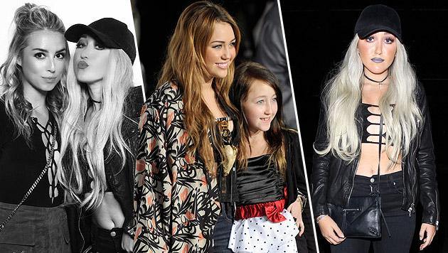 Mileys Schwester schockt mit wildem Partyoutfit (Bild: splash news, instagram.com/noahcyrus, EPA/picturedesk.com)