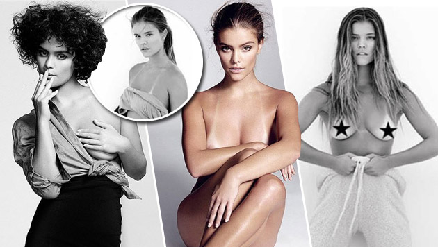 Model Nina Agdal zeigt ihre Bikini-Streifen (Bild: instagram.com/yutsai88, instagram.com/si_illustrated)
