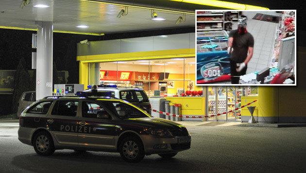 Mit einer Waffe bedrohte ein maskierter Räuber in Innsbruck eine Angestellte. (Bild: zeitungsfoto.at, LKA Tirol)