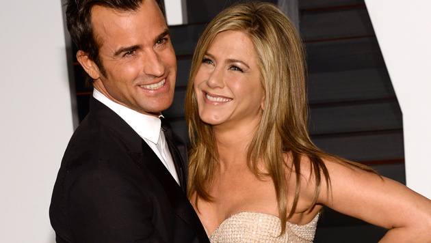 Jennifer Aniston und Justin Theroux (Bild: Evan Agostini/Invision/AP)