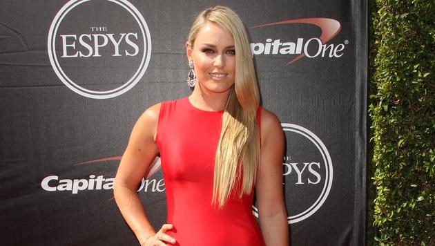 Lindsey Vonn am roten Teppich der ESPY Awards in Los Angeles (Bild: Paul A. Hebert/Invision/AP)
