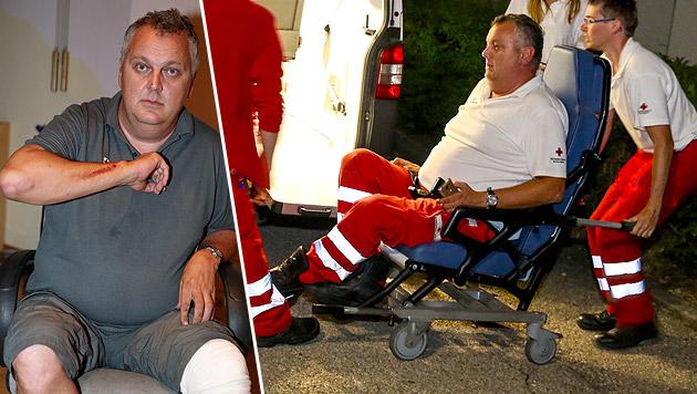 Nach der brutalen Attacke musste Sanitäter Reinhard H. selbst ins Spital eingeliefert werden. (Bild: laumat.at)
