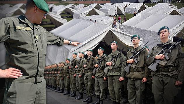 Gegen Asyl-Chaos: Einsatzbefehl für Präsenzdiener (Bild: APA/BARBARA GINDL, APA/GEORG HOCHMUTH, APA/HANS PUNZ)