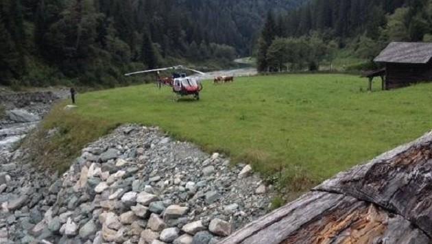 Die junge Urlauberin stürzte bei der Wanderung in den Hollersbach. (Bild: Bergrettung)