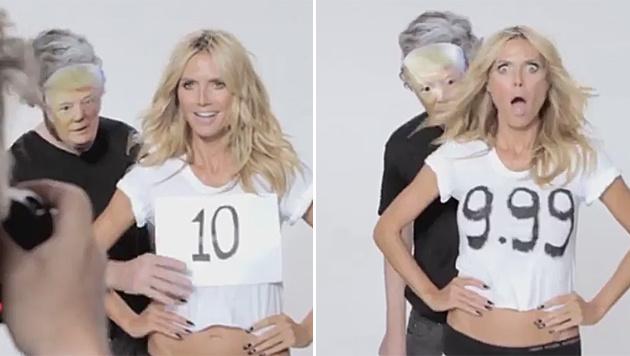 Heidi Klum kontert Donald Trump mit einem witzigen Clip. (Bild: twitter.com/heidiklum)