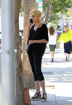 Sharon Stone unterwegs in Los Angeles (Bild: Viennareport)
