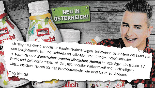 """Bauernkrieg"": Jetzt kontert Andreas Gabalier (Bild: Kronen Zeitung, Andreas Gabalier)"