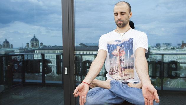 """""""Alles Yoga, oder was? (Bild: Philipp Tomsich)"""""""