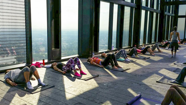 """Alles Yoga, oder was? (Bild: John Harris)"""