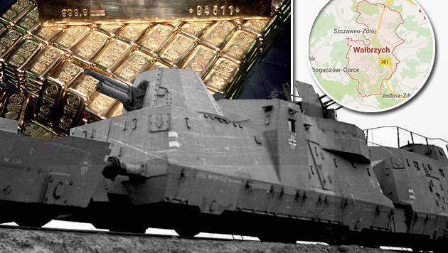 """Suche nach mysteriösem """"Nazi-Goldzug"""" gestartet (Bild: Zwirner, Google Maps)"""