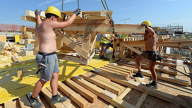 Wer wen vom heimischen Arbeitsmarkt verdrängt (Bild: APA/ROLAND SCHLAGER)