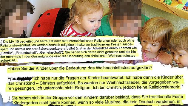 """""""Ich sollte vergessen, dass ich Christin bin"""" (Bild: dpa-Zentralbild/Waltraud Grubitzsch (Symbolbild), Krone)"""