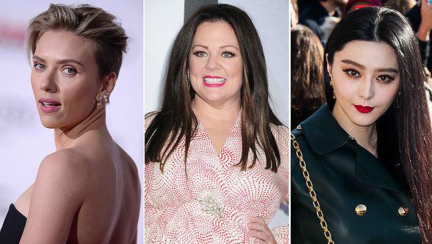 """Scarlett Johansson, Melissa McCarthy und Bingbing Fan sind unter den """"Forbes""""-Top-Fünf. (Bild: Viennareport)"""