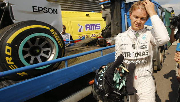 Rosberg gibt in Spa trotz Schrecksekunde Takt vor (Bild: APA/EPA/OLIVIER HOSLET)