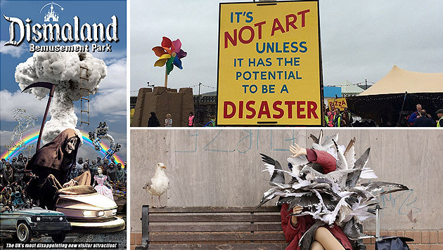 "Trostlos- statt Disneyland: Banksys ""Dismaland"" (Bild: facebook.com, AP)"