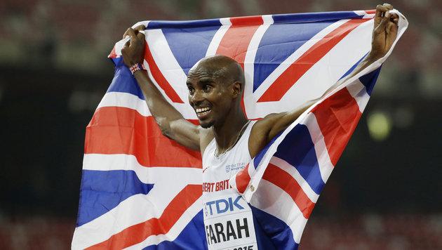 Mo Farah verteidigt Titel über 10.000 Meter (Bild: AP)