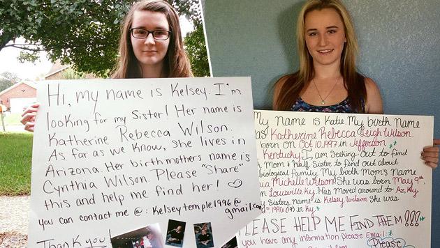 Schwestern finden einander über ähnliche Postings (Bild: facebook.com)