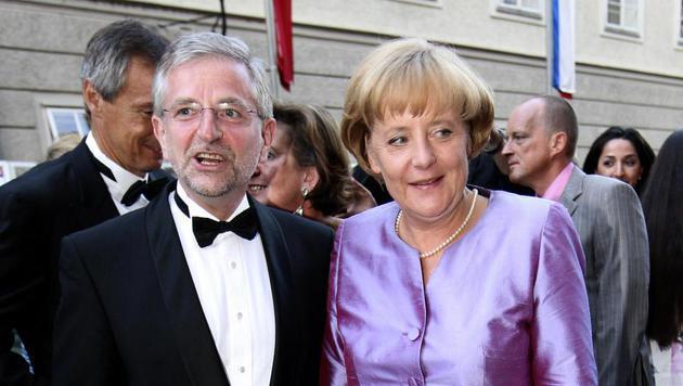 Angela Merkel bei den Salzburger Festspielen im Jahr 2008 (Bild: APA)