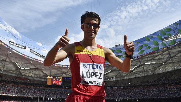 Spanier Miguel Angel Lopez geht zu WM-Gold (Bild: APA/EPA/FRANCK ROBICHON)
