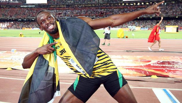 Usain Bolt krönt sich wieder zum 100-m-Weltmeister (Bild: APA/EPA/DIEGO AZUBEL)
