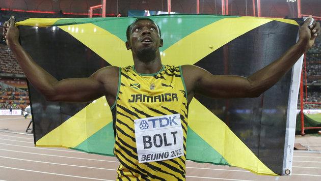 Usain Bolt krönt sich wieder zum 100-m-Weltmeister (Bild: AP)