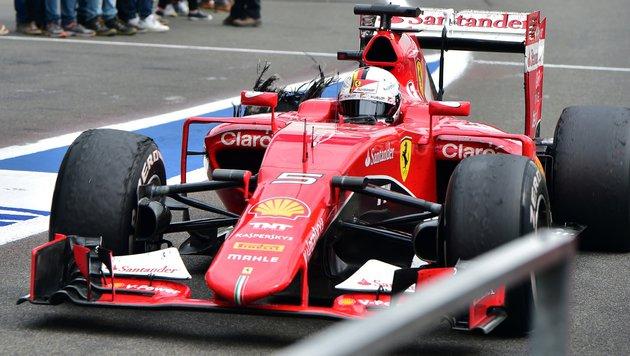 """Vettel: """"Die Qualität der Reifen ist miserabel"""" (Bild: AP)"""