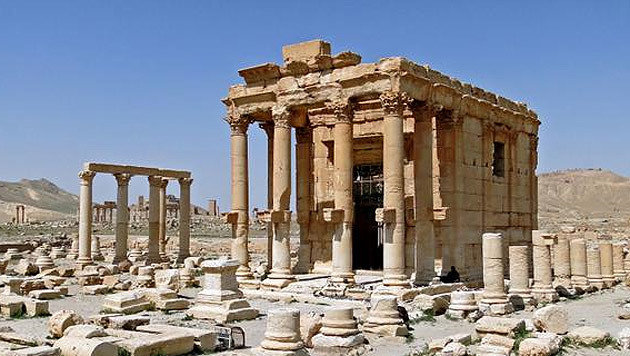 Der Baal-Shamin-Tempel vor seiner Zerst�rung (Bild: twitter.com/Terrormonitor)