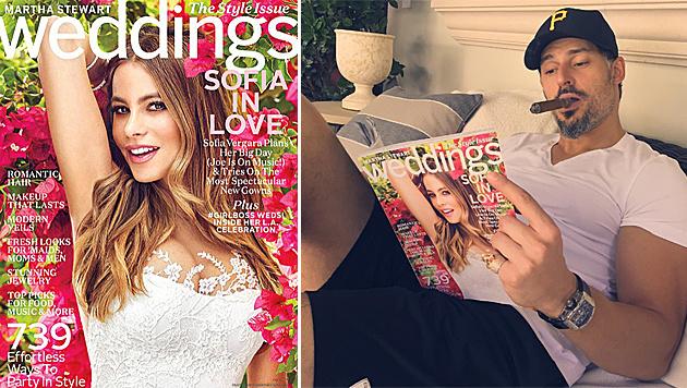 Sofia Vergara als sexy Braut im Hochzeitsmagazin von Martha Stewart. (Bild: Martha Stewart Weddings, instagram.com/sofiavergara)