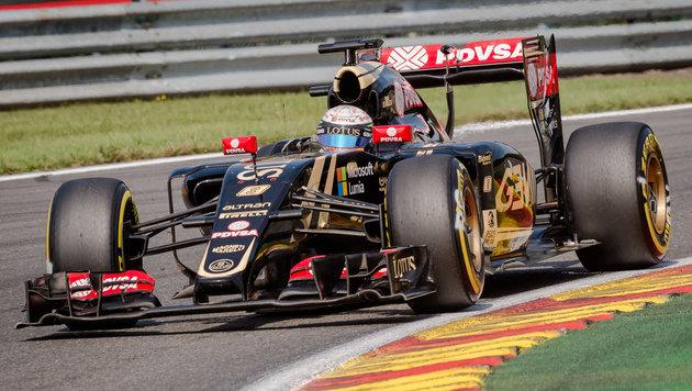 Grosjean – noch in seinem Lotus (Bild: AP)