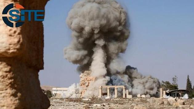 Der IS hatte 2015 im syrischen Palmyra u.a. einen antiken Tempel gesprengt. (Bild: Twitter.com/SITE)