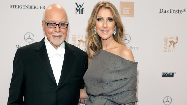 Celine Dion und ihr Ehemann René Angélil (Bild: JOERG CARSTENSEN/EPA/picturedesk.com)