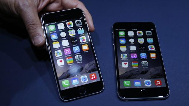 Erstmals Brennstoffzelle in iPhone 6 integriert (Bild: APA/EPA/MONICA DAVEY)