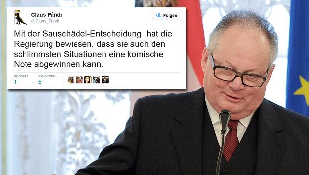 Ex-Banker Konrad soll Flüchtlingspolitik retten (Bild: APA/HERBERT NEUBAUER, twitter.com)