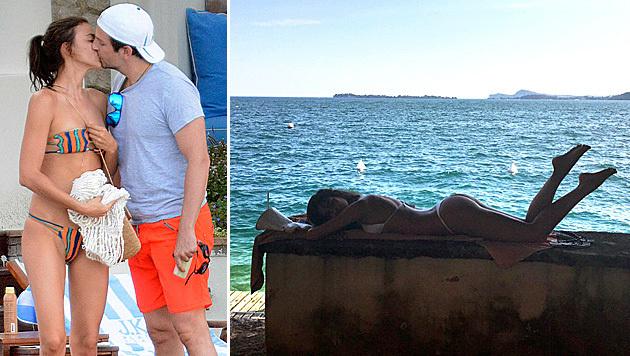Soooo verliebt auf Capri: Irina Shayk und Bradley Cooper (Bild: Viennareport, instagram.com/irinashayk)